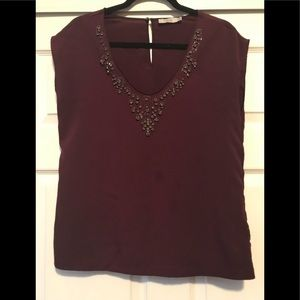 Ladies shirt sleeve blouse
